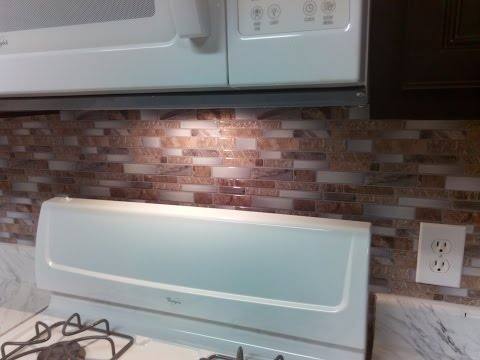 Backsplash - Peel and stick mosaic wall tile installation