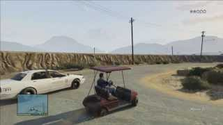 GTA V (Golf Cart Police Chase) PS3 HD
