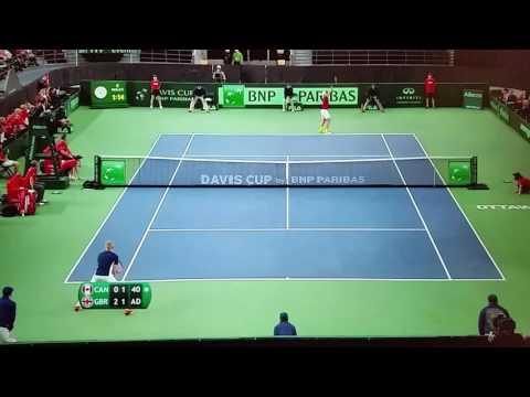 Davis Cup Ottawa 05.02.17 - Denis Shapovalov SMACKS Umpire