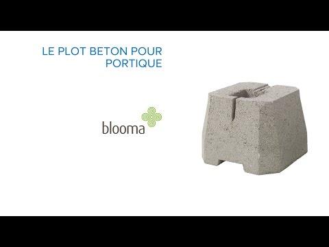 Plot Béton Pour Portique Blooma 676172 Castorama Youtube