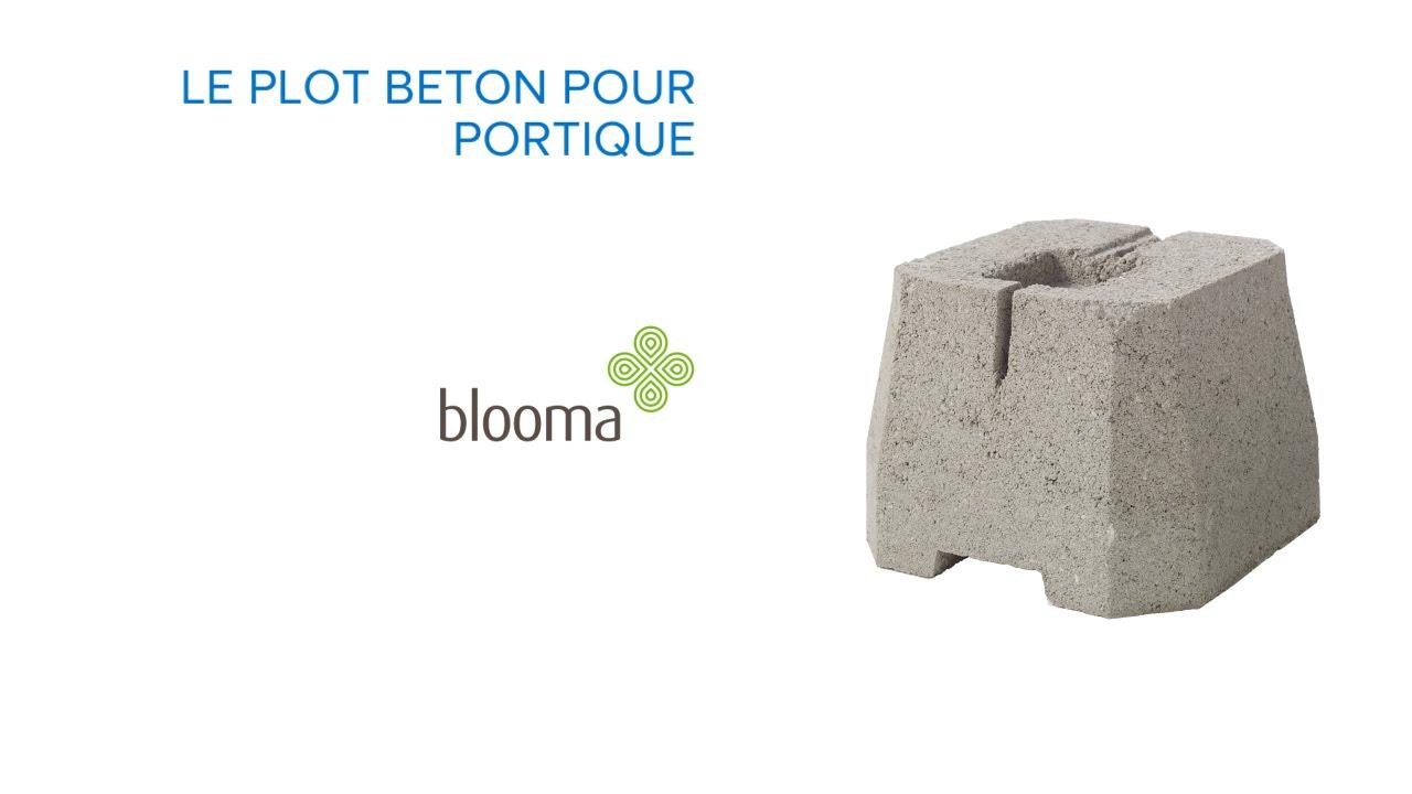 plot beton pour portique blooma 676172 castorama
