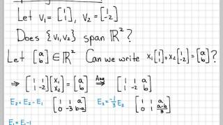 Linear Algebra Example Problems - Spanning Vectors #1 thumbnail
