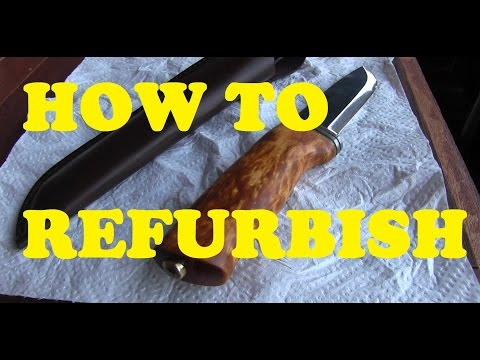HOW-TO REFURBISH that crappy HELLE Bushcraft Knife