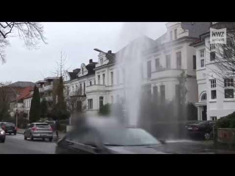 Wasser marsch! - Hydrant sprudelt in Oldenburg los