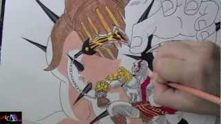 Dibujando a: Kratos Vs Hades
