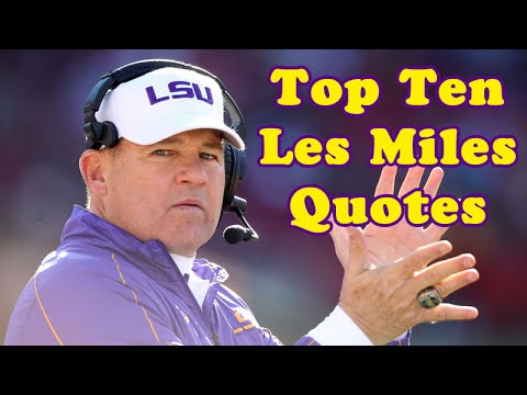 Football Motivational Quotes Wallpaper Top Ten Les Miles Quotes Youtube
