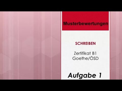 Deutsch Global Musterbewertungen Schreiben Zertifikat B1 Goethe ösd