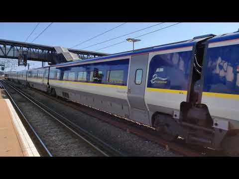 [4K] Class 373 Eurostar departing Ashford International [01/09/2018]