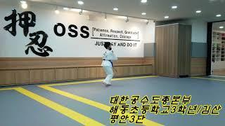 공수도온라인대회참가(초등부)카타 대한공수도. 김산