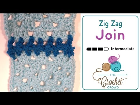 How To Crochet A Granny Square Zig Zag Granny Square Attaching