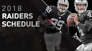 Take a look at the Oakland Raiders 2018 regular season schedule. Vi...