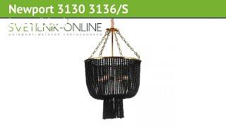 Люстра Newport 3130 3136/S brass/black обзор: светильник Newport 3130 3136/S brass/black 360 Вт