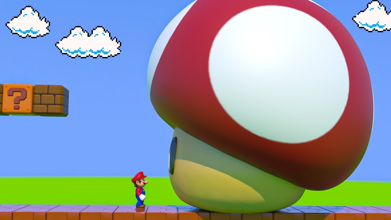 Mario eats a Giant Mushroom and then this happened