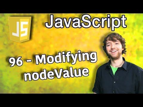 JavaScript Programming Tutorial 96 - Modifying nodeValue thumbnail