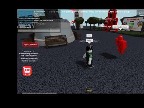 Fake c00lkid member hacks Name Snipe Generator game - Game & Respawn