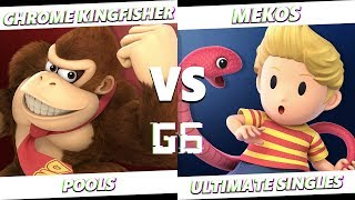Glitch 6 SSBU -  Chrome Kingfisher (Donkey Kong) VS  Mekos (Lucas) Smash Ultimate Pools
