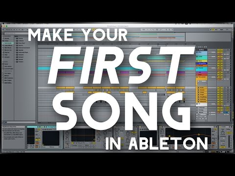 Making Your FIRST Song in Ableton Using Default Ableton PluginsInstruments