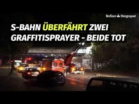 Zwei Graffitisprüher in Wittenau von S-Bahn überfahren