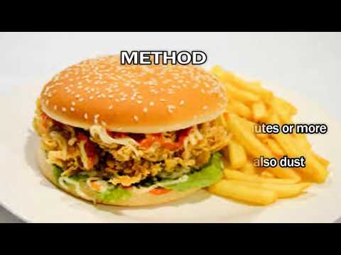 Healthy Food KFC Style Crispy Chicken Burger (Zinger Burger)