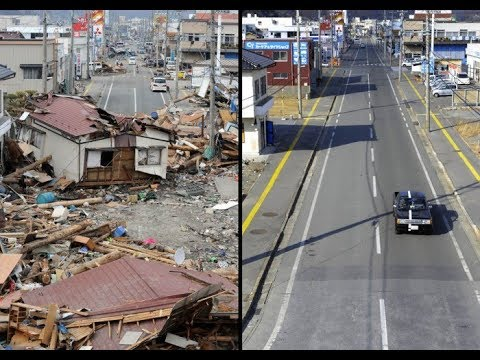 JAPAN BEFORE AND AFTER TSUNAMI! AMAZING FOOTAGE