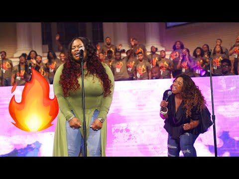 TASHA COBBS \u0026 KIERRA SHEARD SINGING MARY MARY CANT GIVE UP NOW
