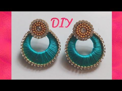 How to make chandbali silk thread earring|simple and beautiful silk thread earring amazing artistic