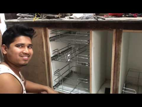 Kitchen में  SS Basket कैसे लगाते है ? How to Fitting SS Basket in Modular Kitchen