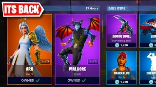 The ANGEL SKIN is BACK in FORTNITE... (Fortnite ARK SKIN)