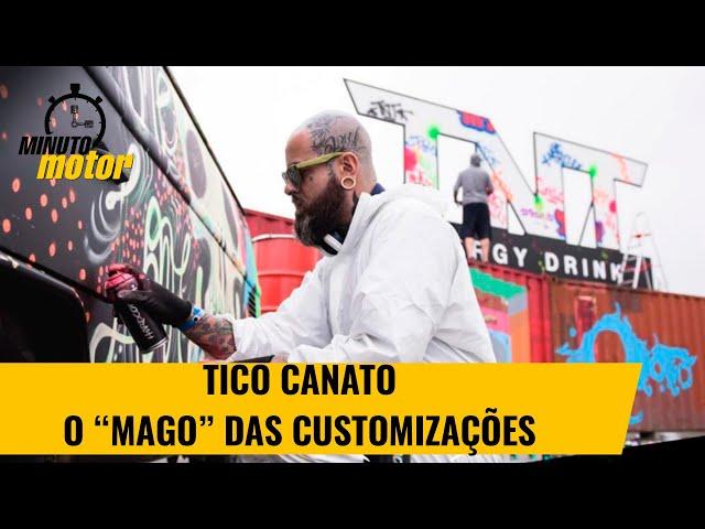 """Tico Canato, o """"mago"""" do spray e das customizações"""