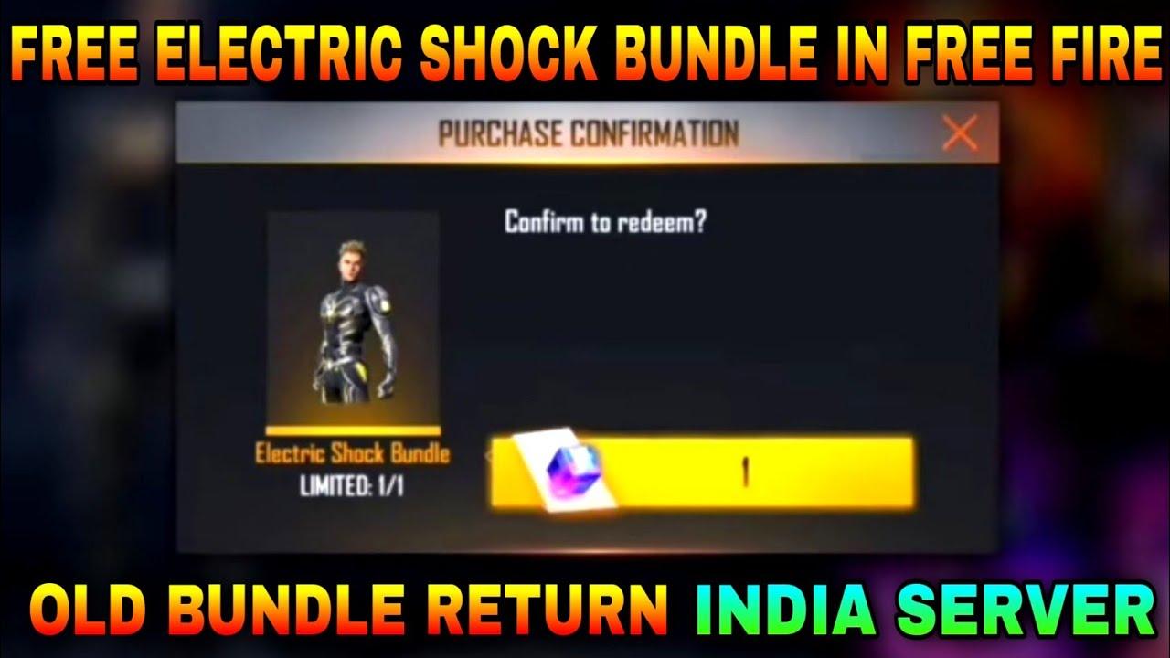 I Got Electric Shock Bundle Return Next Magic Cube Bundle In free fire store gaming