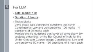 llm exam pattern