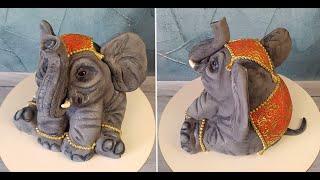 Объемный торт без обрезков 3Д торт ИНДИЙСКИЙ СЛОН Реалистичные торты