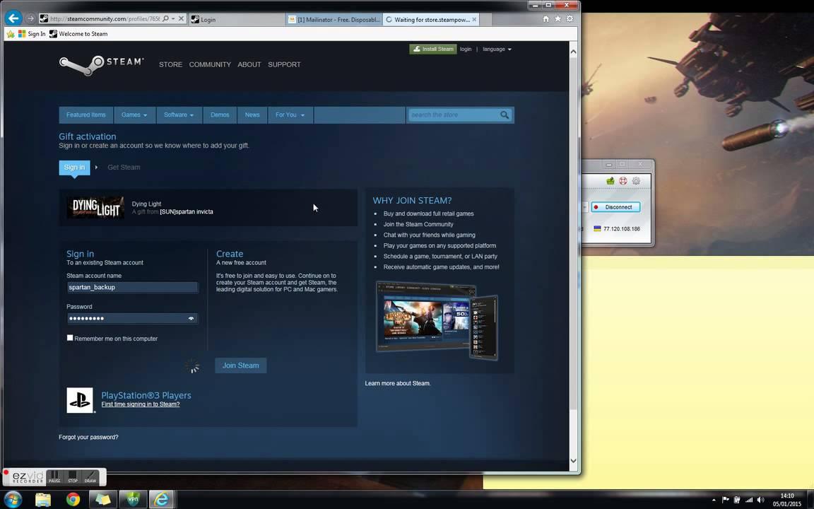 Steam support vpn