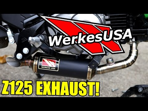 Competition Werkes Z125 Pro Exhaust Install Sound как поздравить