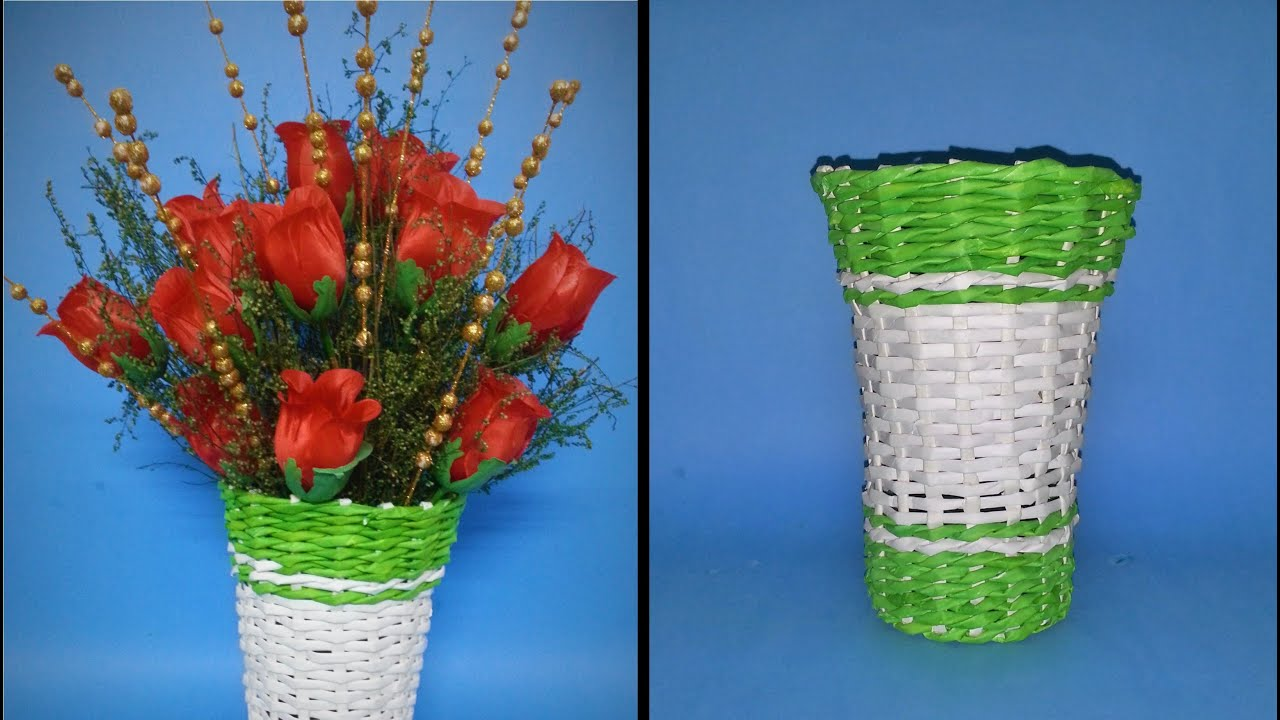 Flower Vase Made By Paper Boatremyeaton