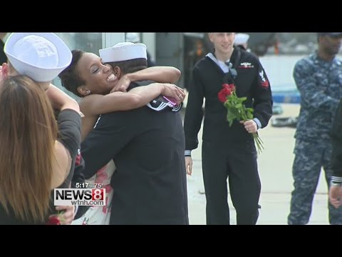 Excitement in the air as USS Pittsburgh returns to Groton