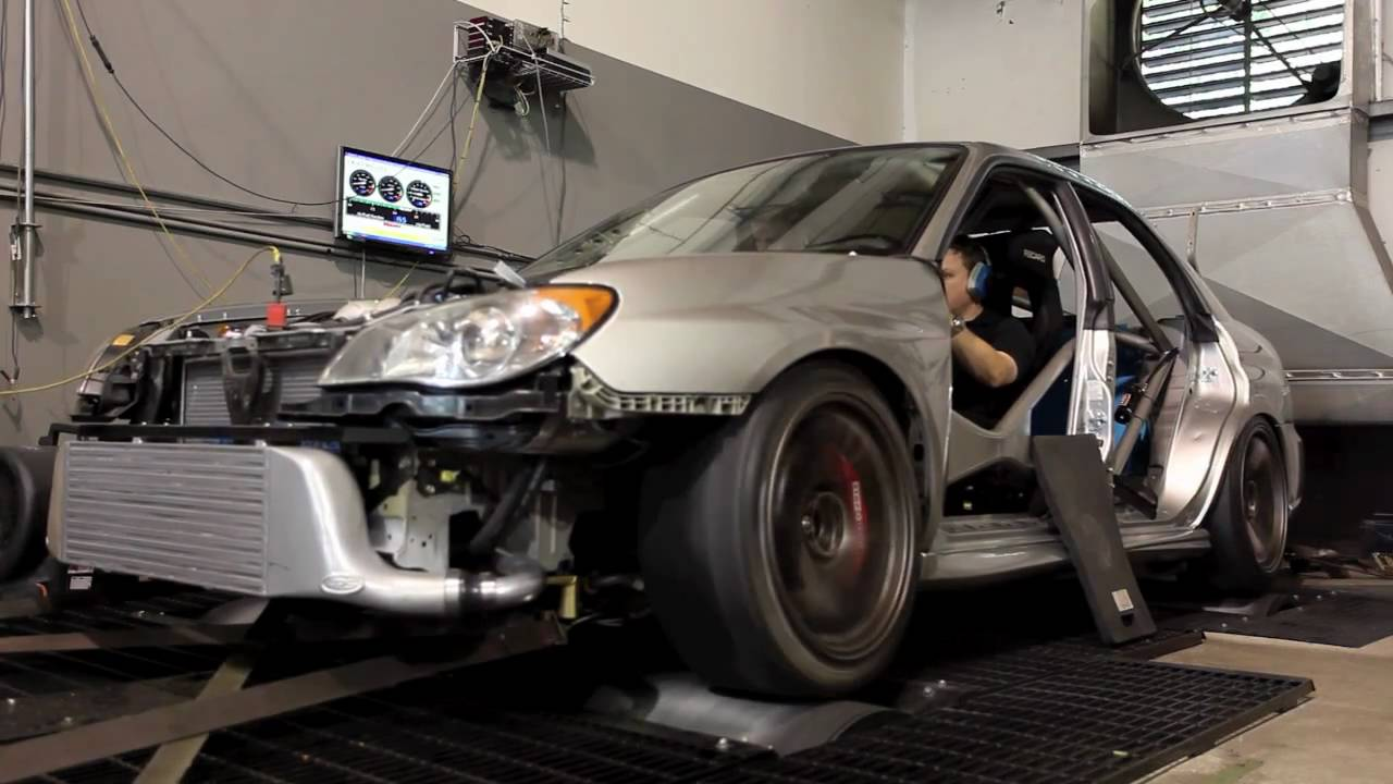 2006 WRX STI dyno run 500+ hp - YouTube