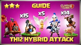 How To use TH12 Hog Miner HYBRID Attack Strategy -Best TH12 Attack Strategy Clash of clan war league