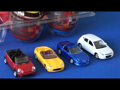 Машинки Welly. Сюрпризы для детей. Surprise Eggs Cars Welly Kinder Toys