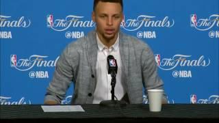 Stephen Curry 賽後記者會 勇士@騎士 G6 NBA Finals 中文字幕