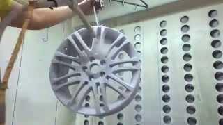 Renovace Alu kol Prostějov - nanášení práškové barvy ( PowderCoating)