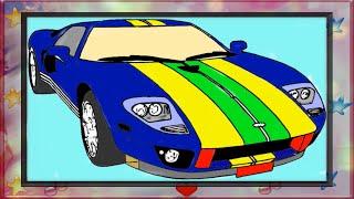 раскраска для детей онлайн - раскраска автомобиль