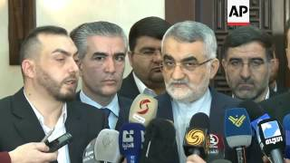 Syrian Parliament chief meets Iranian National Security Chairman