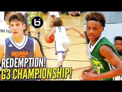 REDEMPTION!!! LeBron James Jr. GOES DOWN in G3 Championship! Blue Chips v. Indiana Elite!