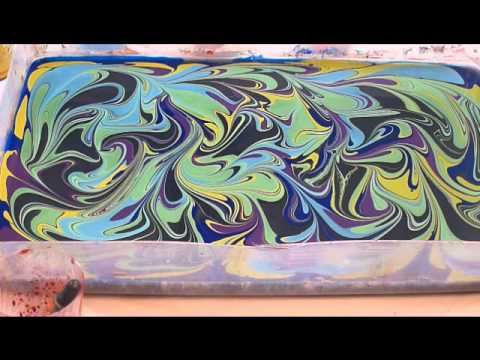 Watercolor Marbling 4 8 14 Youtube