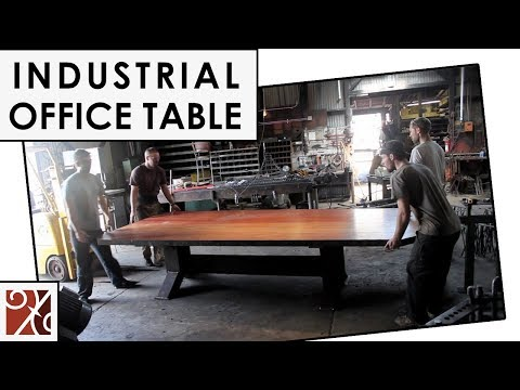 Santa Barbara Forge + Iron: Industrial Office Table