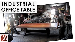 "Santa Barbara Forge + Iron: ""i"" Beam Conference Table"