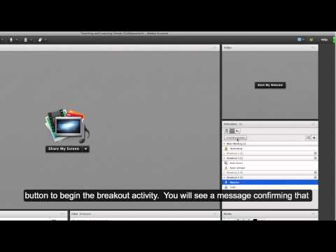 Adobe Connect Tutorial: Breakout Rooms