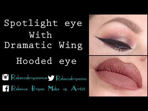 Spotlight eye with Winged Liner (hooded eye)