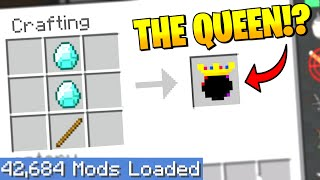 Largest Minecraft Modpack but EVERY crafting recipe is RANDOM 6